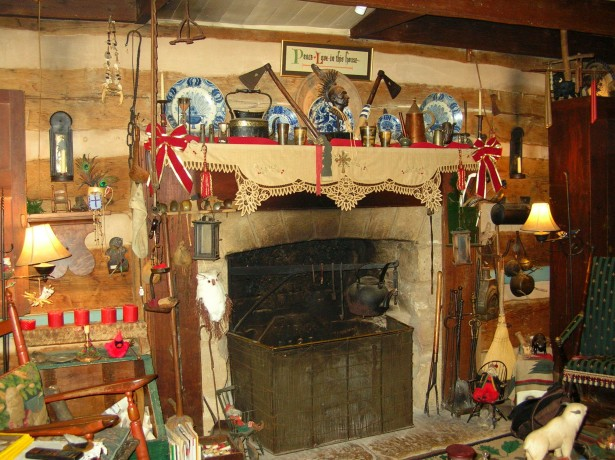 Old Fashioned Cabin Fireplace Free Stock Photo Public