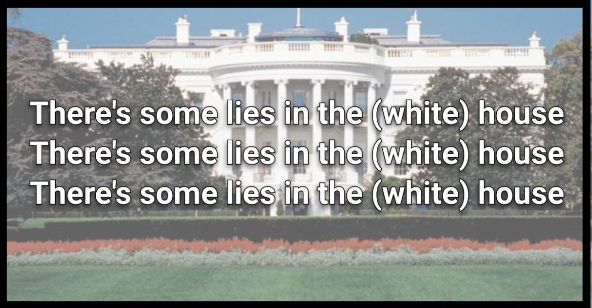 Vice Presidential Debate, There were some lies in this (white) house