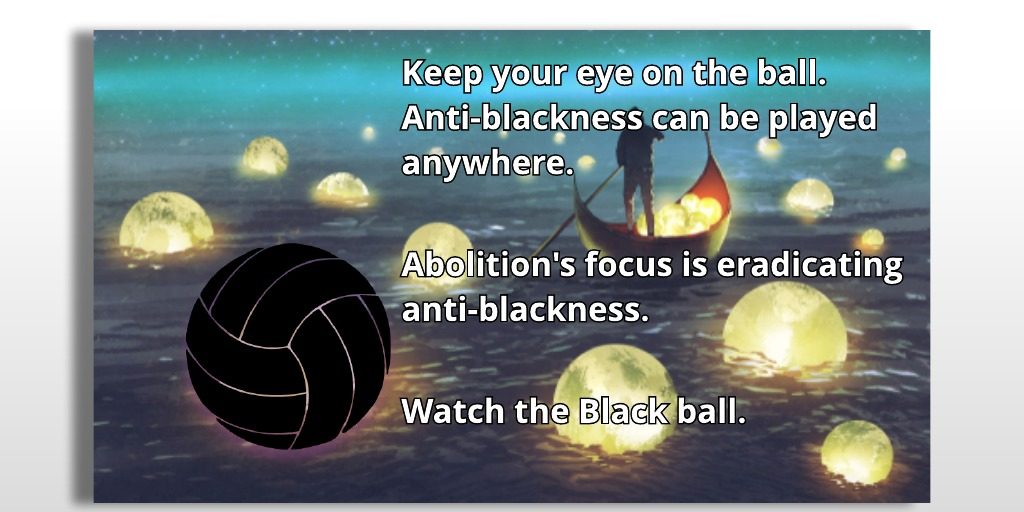 Abolition is about anti-blackness, imprisoning Chauvin is not a conflict for me