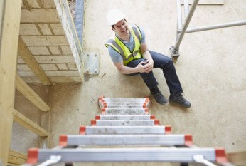 Employers Liability insurance claim as employee injured after falling off ladder