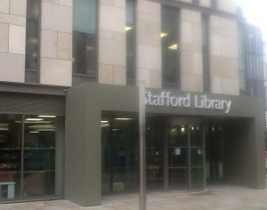 The building is the council HQ, with the library having taken over the ground floor