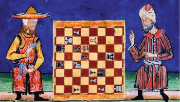 13th c Jew and Muslim play chess Al-andalus
