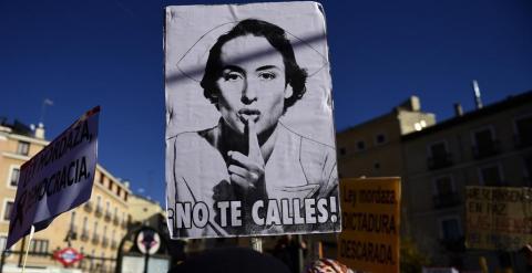 Protestas contra la 'ley Mordaza' en Madrid. AFP