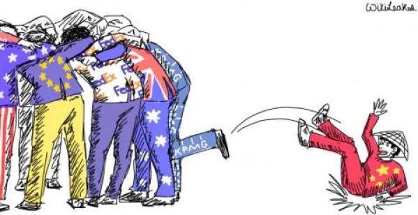 Viñeta de Wikileaks sobre el acuerdo TiSA.