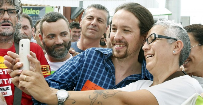 Resultado de imagen para trabajadores catalanes votan podemos