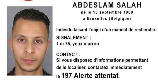 La alerta emitida por la Policía francesa sobre el terrorista Abdeslam Salah. REUTERS