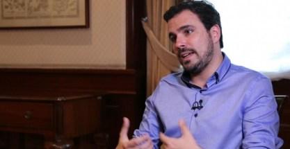 Alberto Garzón en un momento de la entrevista.- PÚBLICO