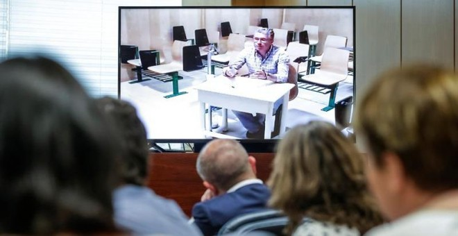 Granados ante la comisión de la Comunidad de Madrid. EFE
