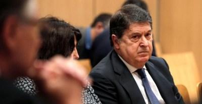 El expresidente de Bancaja, exvicepresidente de Bankia y expresident de la Generlitat, José Luis Olivas, al inicio del juicio/ EFE