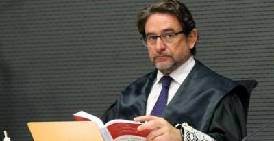 El magistrado Salvador Alba durante el juicio del 'caso Calero'. EFE/ELVIRA URQUIJO