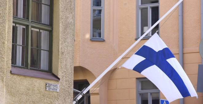 Bandera de Finlandia./AFP