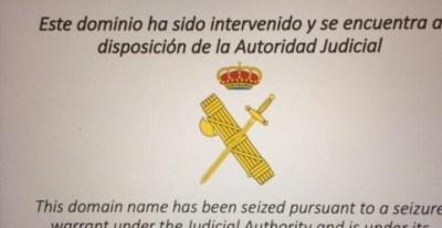 Pantalla que ha aparegut a diferents dispositius quan s'intentava accedir a la pàgina web de l'Assemblea Nacional Catalana