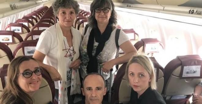 Eurodiputados a los que Marruecos ha impedido la entrada al Sáhara ocupado.- TWITTER