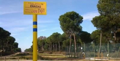 Señal que indica el proyecto de gas natural de Doñana. E.P.