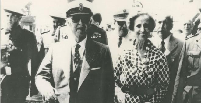 Francisco Franco y Carmen Polo en A Coruña.