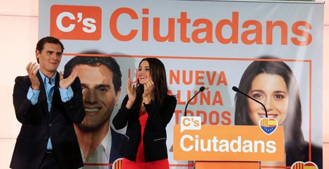 Cartel electoral de Cs en Catalunya, en 2015.