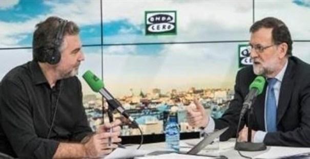 Mariano Rajoy en la entrevista de Onda Cero de esta miércoles