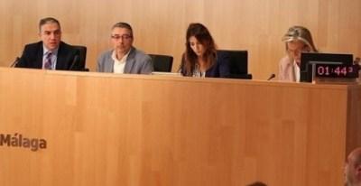 Pleno en la Diputación de Málaga. EUROPA PRESS