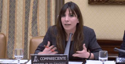 Gloria Martínez-Cousinou,durante su intervención en el Congreso de los Diputados.