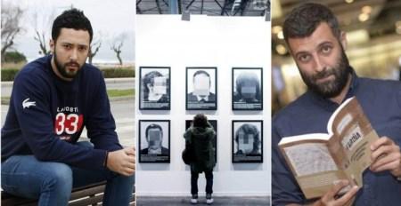 Valtonyc, la obra 'Presos Políticos en la España Contemporánea' y Nacho Carretero con el libro 'Fariña'.