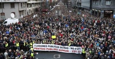 Manifestación de Bilbao por unas pensiones justas. Luis Tejido (EFE)