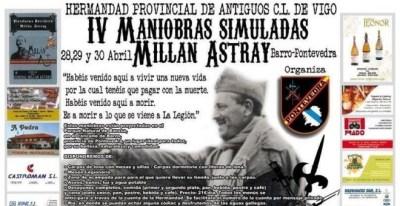 Cartel con el programa de la Hermandad de Caballeros de la Legión / Europa Press