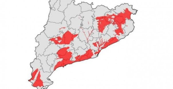 Masas de agua en mal estado a causa de los nitratos en aguas subterráneas de Catalunya. SÍNDIC