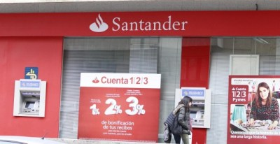Sucursal del banco Santander. EUROPA PRESS/Archivo