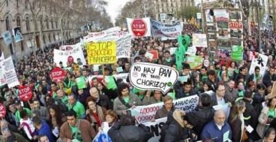 Manifestación de la PAH en Barcelona | EFE