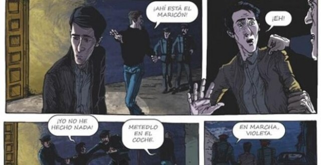 Viñetas del cómic 'El Violeta' Editorial Drakul