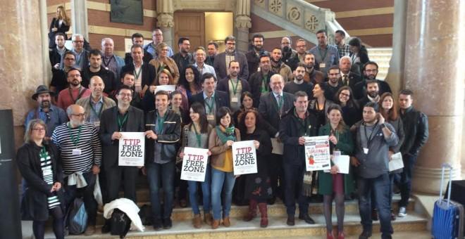 Encuentro de municipios europeos contra el TTIP en Barcelona, jueves 21 de abril.