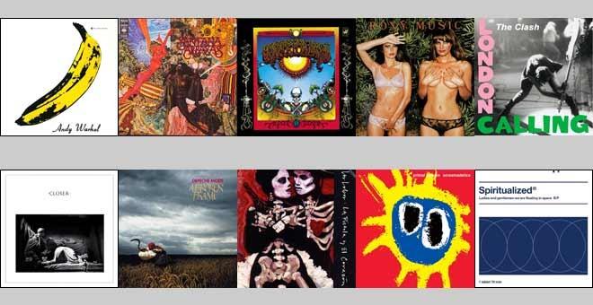 Las diez portadas icónicas de discos en la historia del rock. /PÚBLICO
