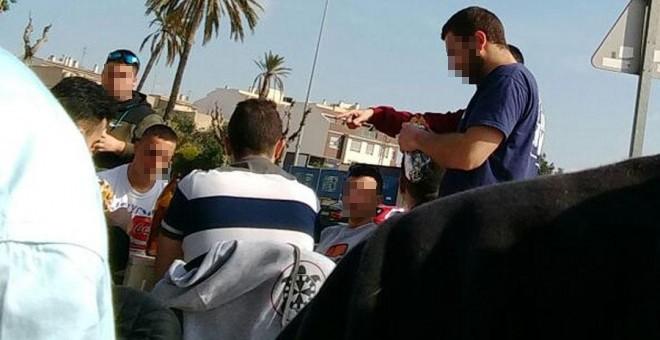 Los neonazis, en el bar de Churra antes de atacar