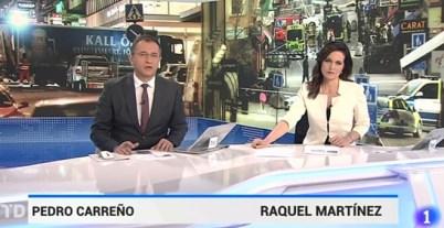 Los presentadores del Telediario del pasado 8 de abril.- TVE