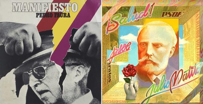 'Manifiesto', de Pedro Faura, y '¡Salud! PSOE', de Julio Matito.