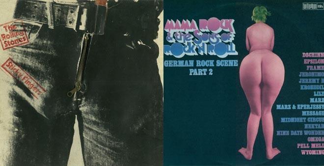 Portadas de dos discos que sufrieron las mutaciones de la censura.