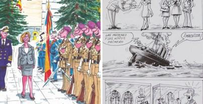 Viñetas denigrantes para la mujer de 'Militares', la revista editada por la Asociación Española de Militares (AME). PÚBLICO