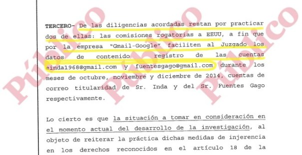 Tercer razonamiento jurídico del auto de archivo de la subpieza secreta del caso Nicolay.
