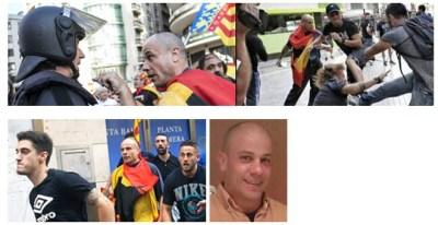 Uno de los ultras identificados en la manifestación del 9 de octubre en Valencia