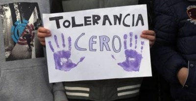 Cartel contra la violencia machista. EFE