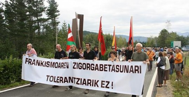 Marcha contra la impunidad del franquismo en Elgeta.- BOLTXE