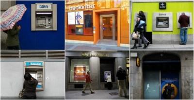Oficinas de BBVA, Bankinter, Bankia, Banco Sabadell, Banco Santander y Caixabank // REUTERS