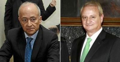 El exsenador del PP Vicente Magro y el ex número dos de Gallardón, Fernando Román (derecha). / EFE