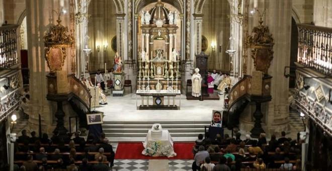 Imagen cedida por el obispado de Almería, del funeral por Gabriel Cruz. /EFE