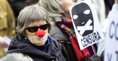 Imagen de archivo de una protesta contra la 'ley Mordaza' en Madrid. - AFP
