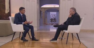 Entrevista del presidente del Gobierno en funciones, Pedro Sánchez, a La Sexta. / CAPTURA - LA SEXTA