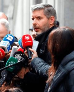Andreu Van den Eynde, abogado de Oriol Junqueras, tras la vista de apelación del Supremo. EFE