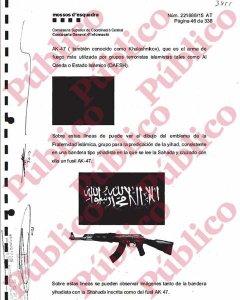 Símbolos de la Fraternidad Yihadista contenidos en la denuncia de los Mossos.