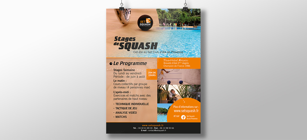 Set Squash, design stages sportif aix en provence