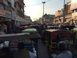 On our rickshaw, not a traffic jam